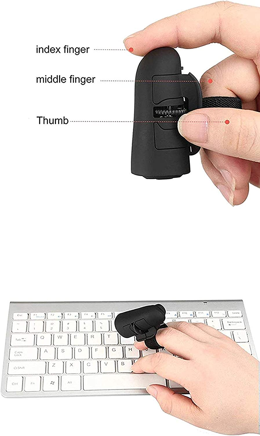Mini Bluetooth Mouse Wireless//Creative//Lazy Mouse//Portable//Mini Wireless//Optical Mouse//Computer Phone Tablet Universal Bluetooth Mouse Black