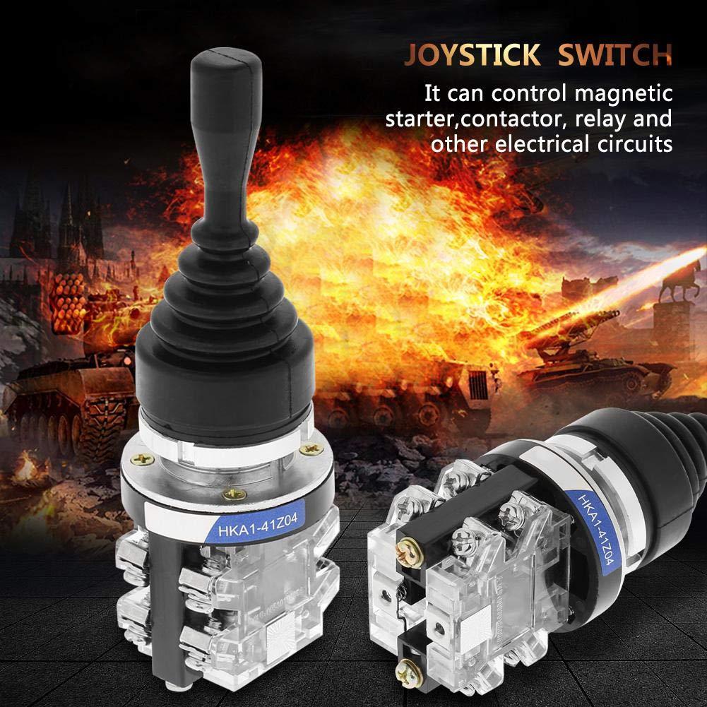4 Position Joystick Switch 4NO Spring Return Momentary Joy Stick Replacement for HKAI-41Z04 Dia Joystick Switch 30mm