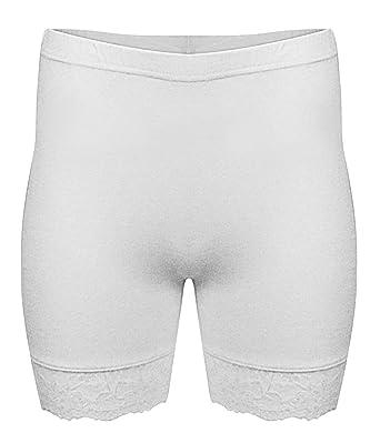 Womens Ladies Lace Trim Stretchy Cycling Shorts  Amazon.fr  Vêtements et  accessoires 03dca7a2c78