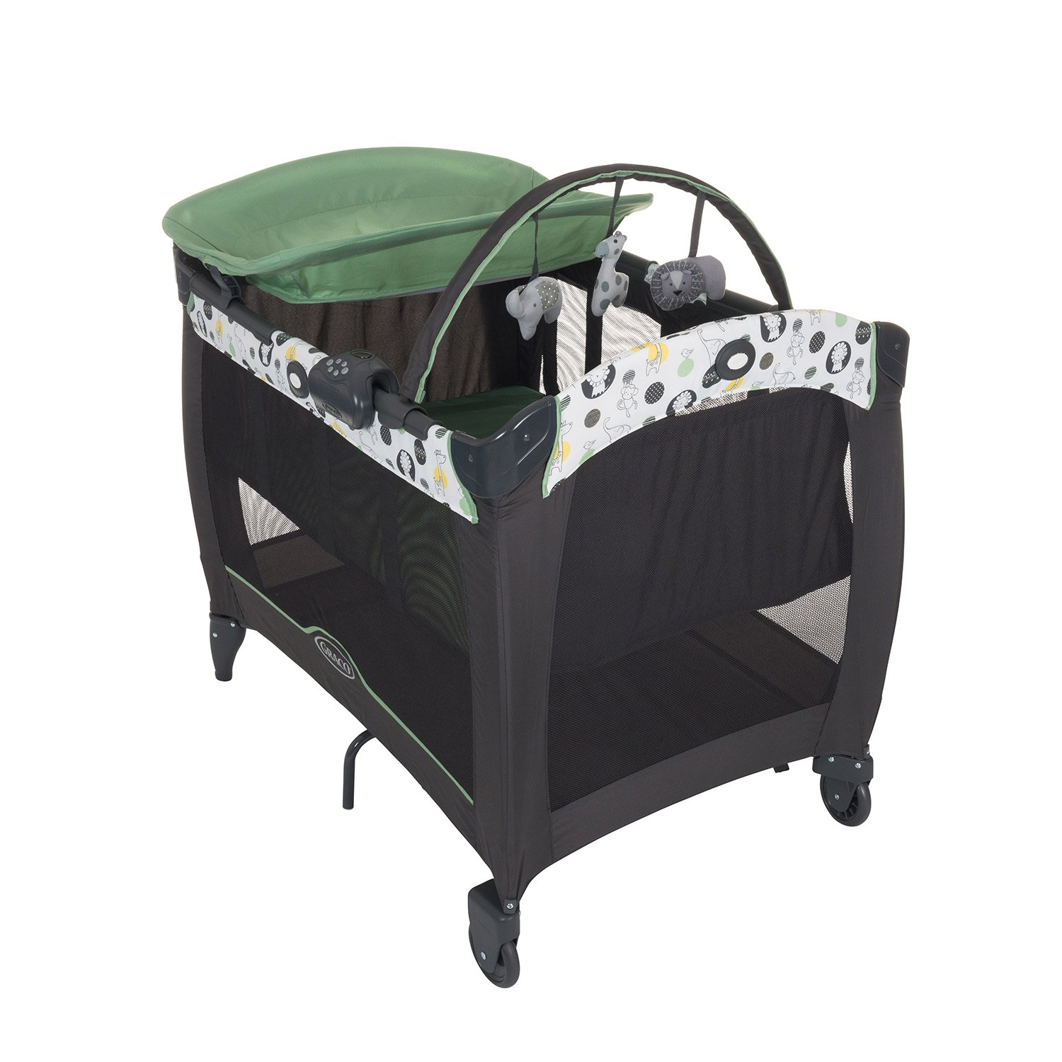 Graco Contour Electra Travel Cot, Balancing Act Newell Rubbermaid 2045288