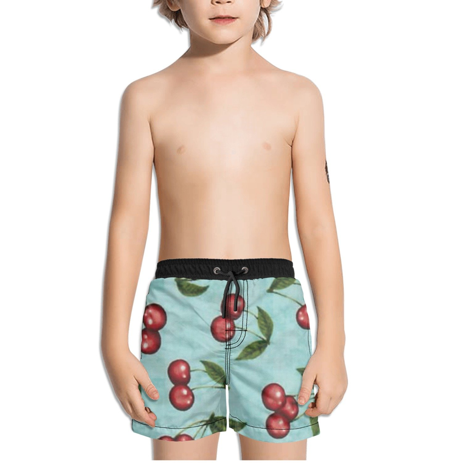 Ouxioaz Boys Swim Trunk Cherry Cherries Beach Board Shorts