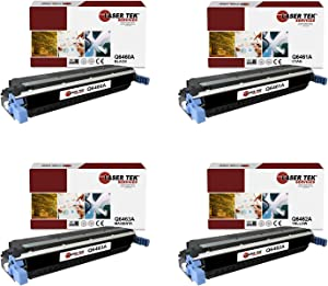 Laser Tek Services Compatible HP 644A Q6460A Q6461A Q6462A Q6463A Toner Cartridge Replacement for HP Color Laserjet 4730 4730x MFP 4730xm Printers (Black, Cyan, Magenta, Yellow, 4 Pack)