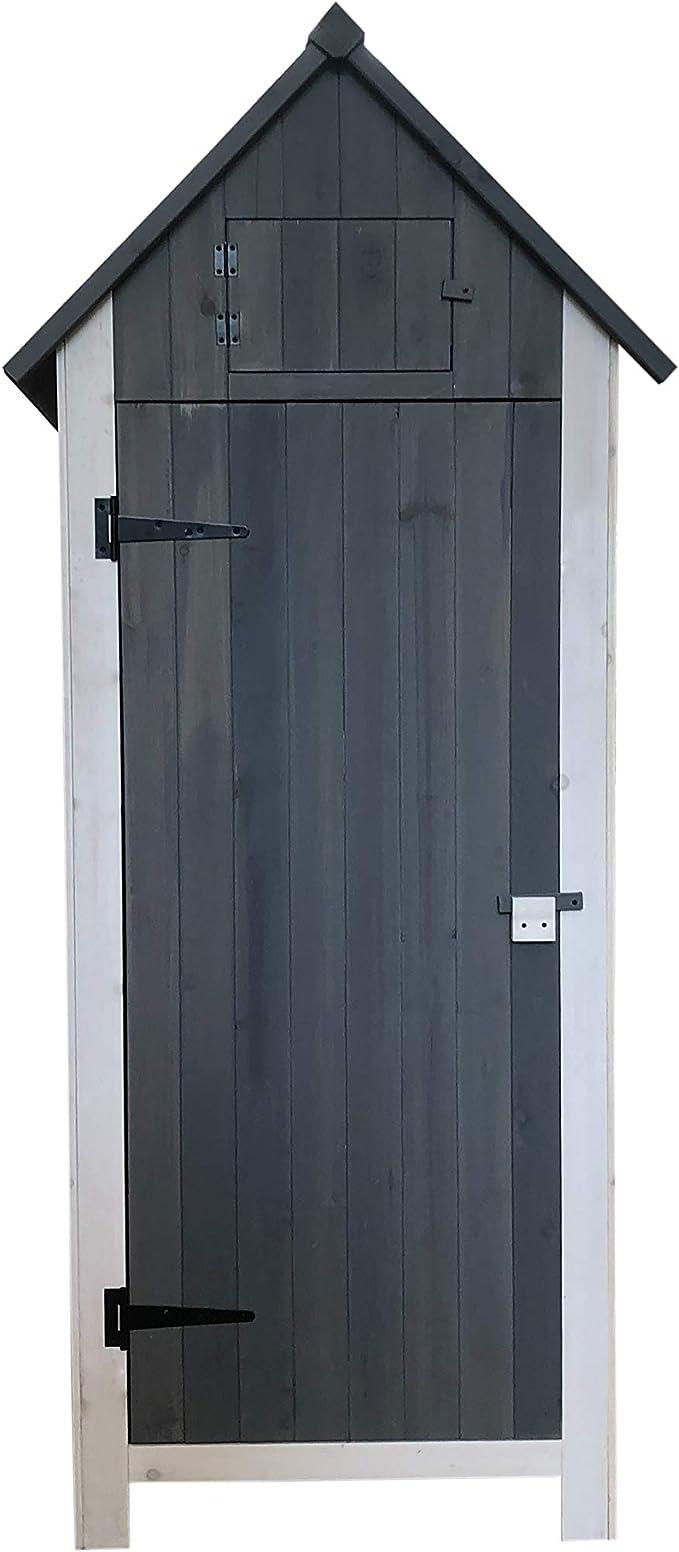 Gardiun KNH1108 - Armario de Madera Cobertizo Exterior Kylie Grey ...