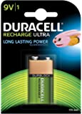 Duracell Recharge Ultra Type 9V Battery 170 mAh, pack of 1