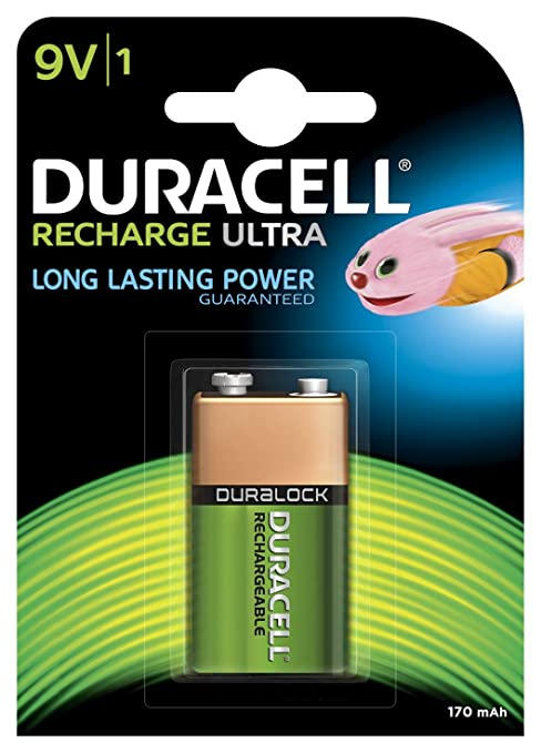92a7ade3c02 Buy Duracell Rechargeable 9V 170 mAh MiMH Batteries-Pack of 1 Online at Low  Price in India