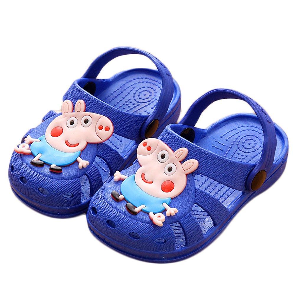 afff8f6926c6f Amazon.com   Bakerdani Boys Girls Cute Cartoon Closed Toe Slippers ...