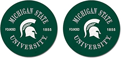 One Size Sandstone NCAA Fan Shop Michigan State Spartans Legacy Thirsty Car Coaster 2-Pack