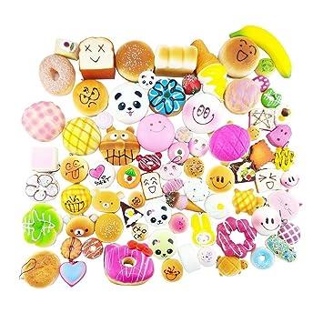 Kingdommax 12 piezas Kawaii Mini Squishy alimentos simulados ...