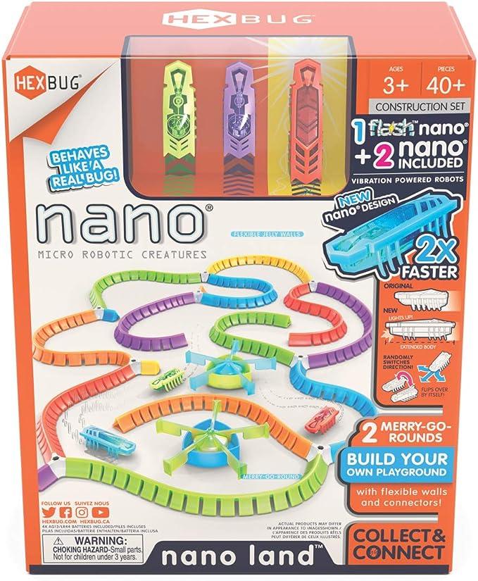 Assorted Colors HEXBUG Flash Nano Single Interactive Sensory Vibration Toy for Kids