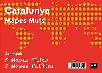 Grupo Erik Editores Pack 10 Mapas Mudos en catalán Catalunya ...