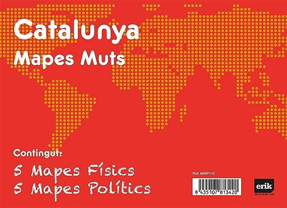 Grupo Erik Editores Pack 10 Mapas Mudos en catalán Catalunya Politica Fisica: Amazon.es: Oficina y papelería