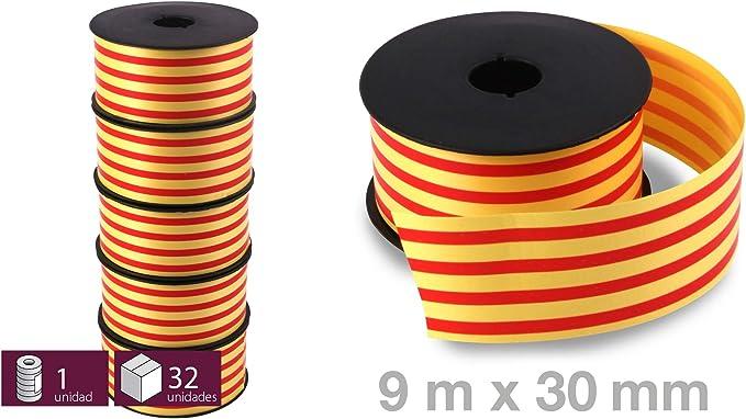 5 Rollos de Cinta Decorativa Bandera Catalana Senyera - Tamaño: 30 Mm X 5,5m - Ideal Fiesta Regional: Amazon.es: Hogar