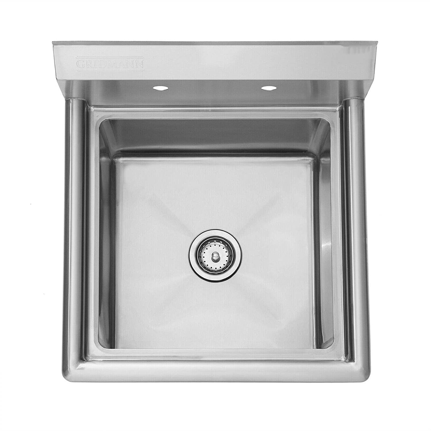 """Durable Sturdy Heavy Duty Large Bowl Size Suitable Safe Cirocco 23.5/"""" Wall Mount Stainless Steel Utility Sink Silver For Home Office Kitchen Bar Restaurant Laundry Cafeteria Garage Commercial Use"""