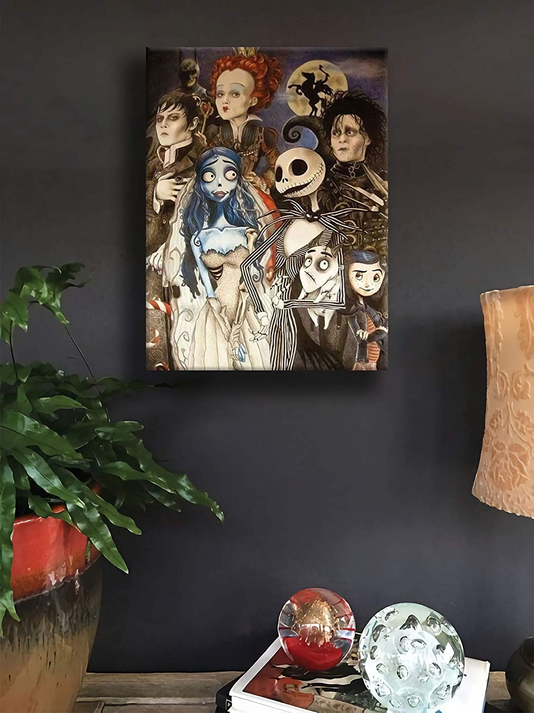 Tim Burton Film Character Contemporary Art Oil Painting Vertical Art Paintings for Home Decor 12x16 Tim Burton Art