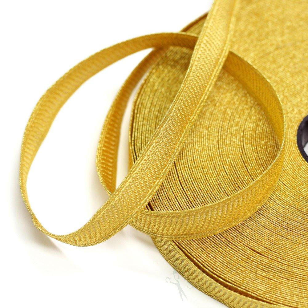 HALEN 1/2'' Yellow Gold Bullion Braid Trim with Diagonal Rib: 5 Yards by Bias Bespoke