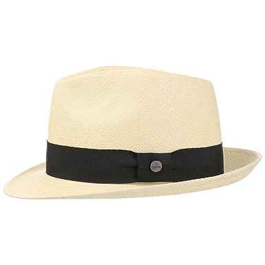 d4eb3f4453660 Lierys The Trilby Panamahut Hut Strohhut Panamastrohhut Fedora Sommerhut  Sonnenhut Strandhut für Damen Herren mit Einfass