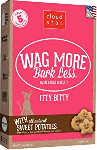 Cloud Star Wag More Bark Less, Itty Bitty Crunchy Oven Baked Biscuit Dog Treats, Baked in USA