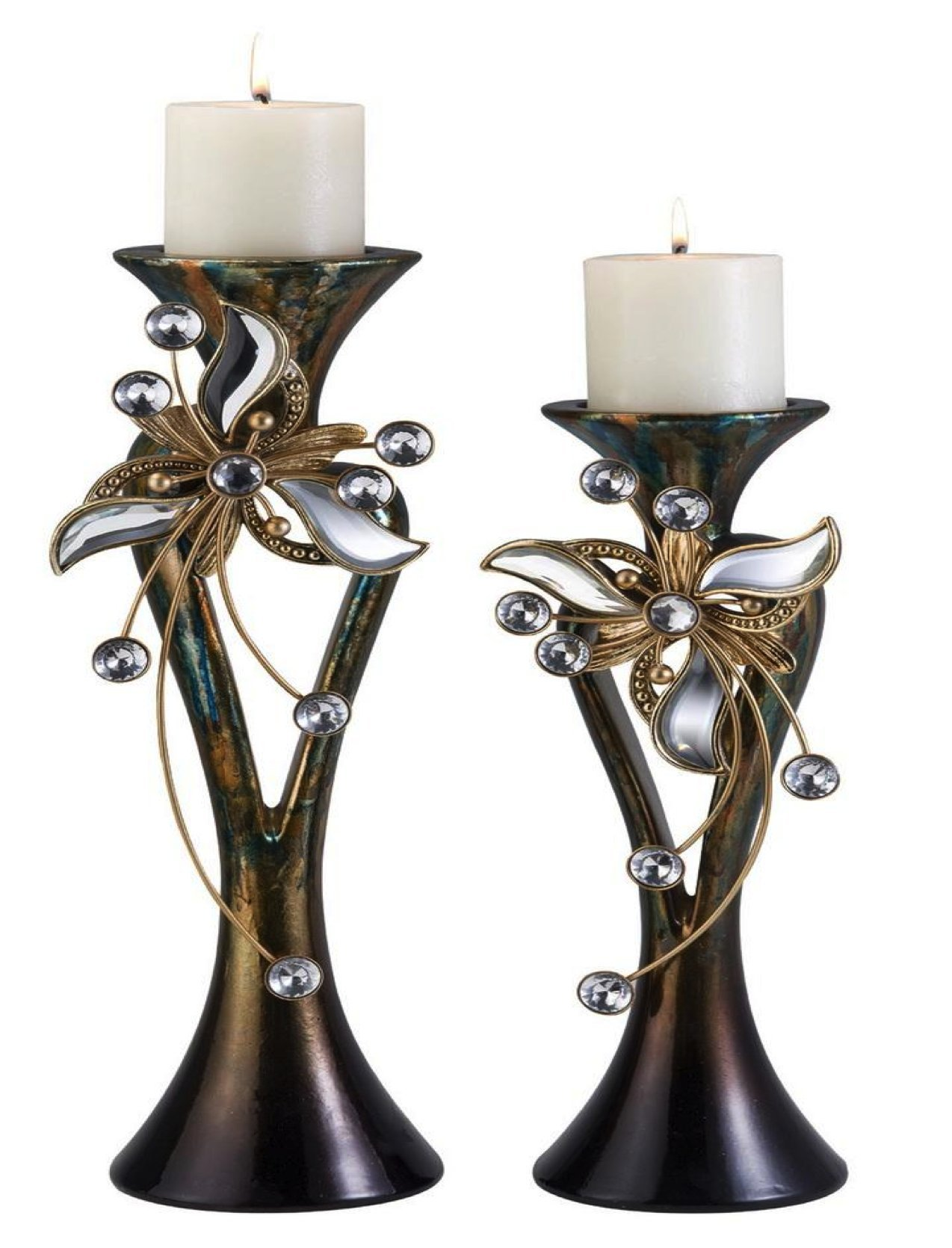 Ore International K-4254C Florria Candleholder Set without Candles, 15 by 18-Inch by ORE