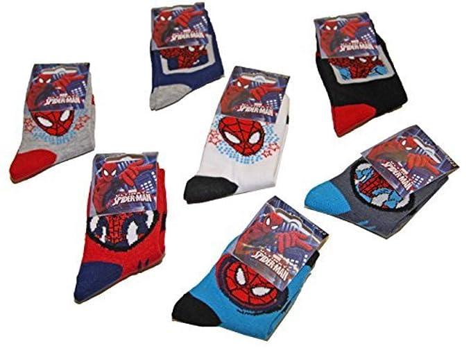 f476cbe791 Pierre-cedric Set di 6 paia di calze bambini ragazzi Spider-Man ...