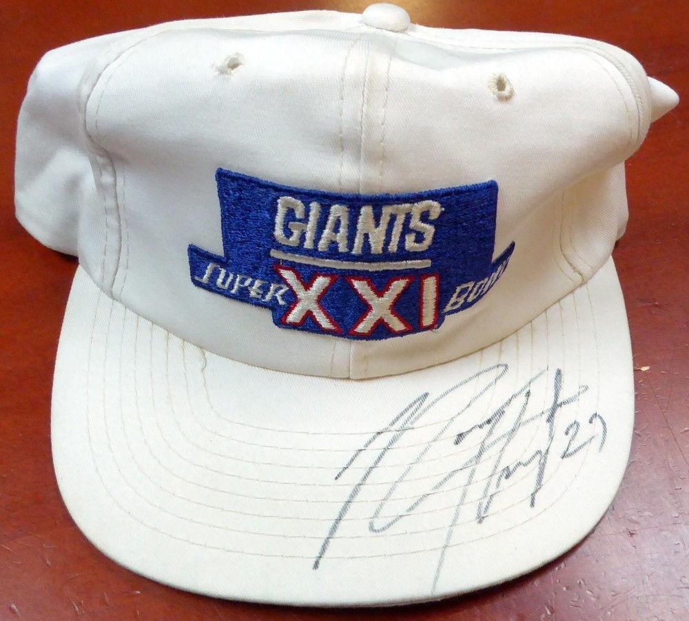 Rodney Hampton Autographed Signed Giants Super Bowl XXI Hat #AC26458 PSA/DNA Certified Autographed NFL Hats