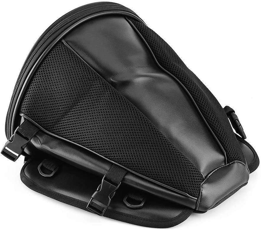 Sport per bici da moto Sedile posteriore impermeabile Borsa per il trasporto Borsa da sella Portatile Cinghie incluse Borsa da coda per moto