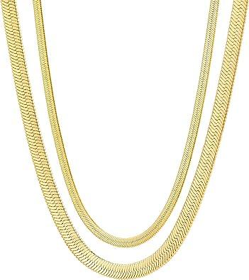 Jewelry Choker Necklace Brass Snake Chain Adjustable Jewellery