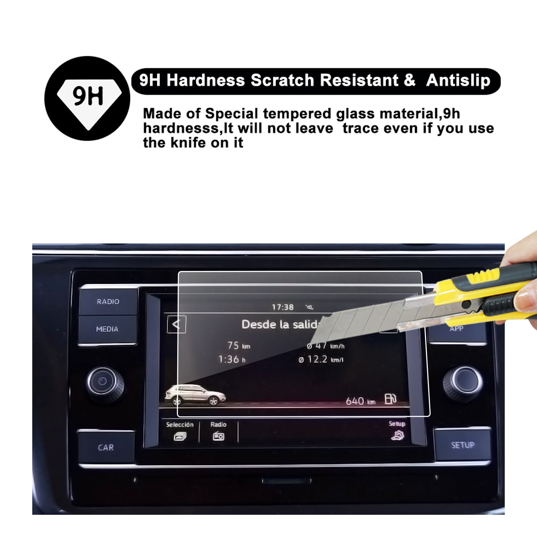 2018 Tiguan Touch Screen Car Display Navigation Screen Protector R RUIYA HD Clear Tempered Glass Car in-Dash Screen Protective Film 8-Inch 4332955527