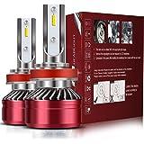 H11/H8/H9 LED Headlight Bulbs Conversion Kit,TURBO SII D6 Series CSP Chips Low Beam/Fog Light Bulb - MIni Size Design…