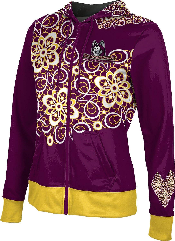 School Spirit Sweatshirt Foxy ProSphere Bloomsburg University Girls Zipper Hoodie