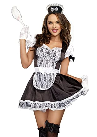 Amazon.com: Full Figure French Maid Plus Size Halloween Costume ...