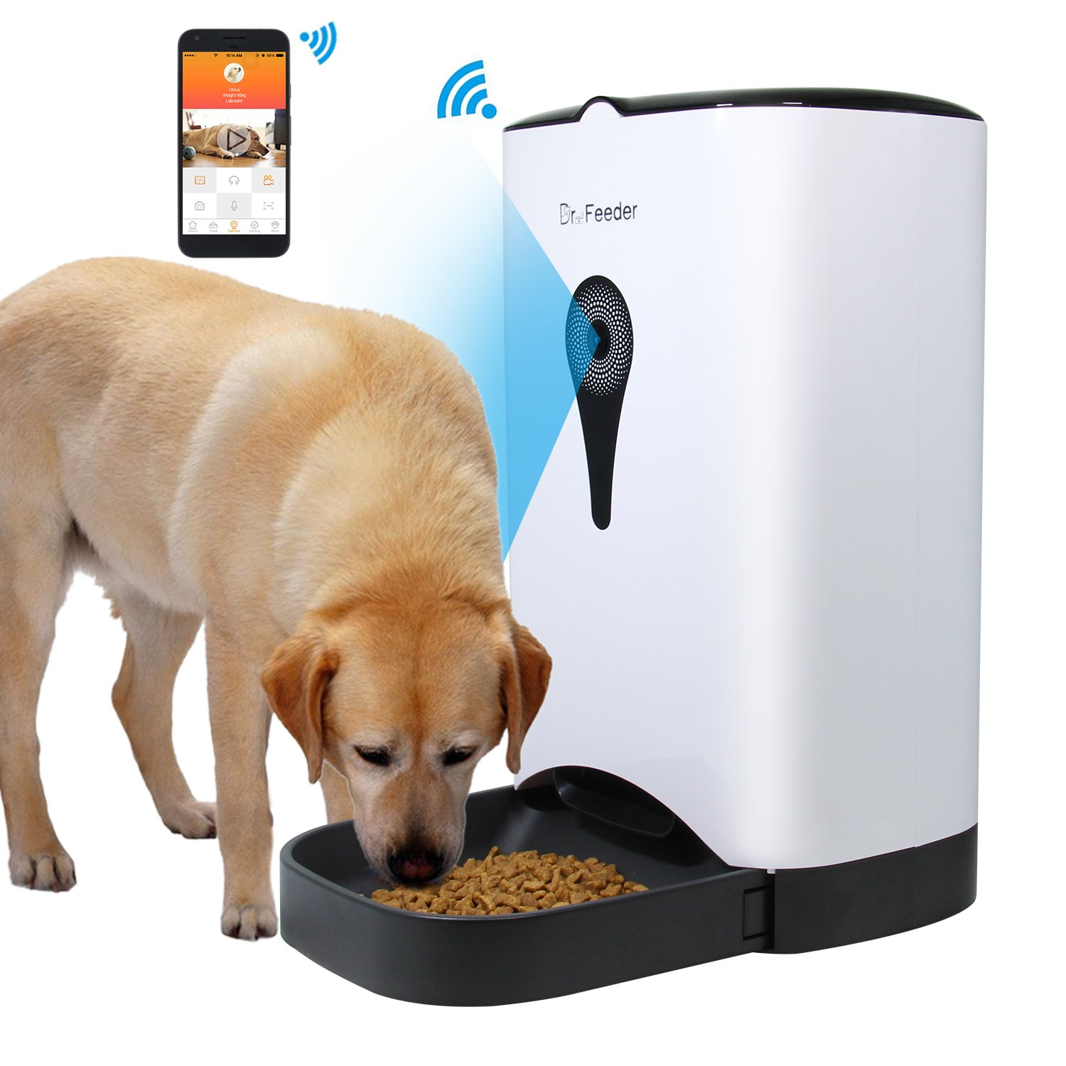 tchaassste video voice feeder control feeders precise chat remote surveillance automatic pet get in tag intelligent app mobile feeding of machine