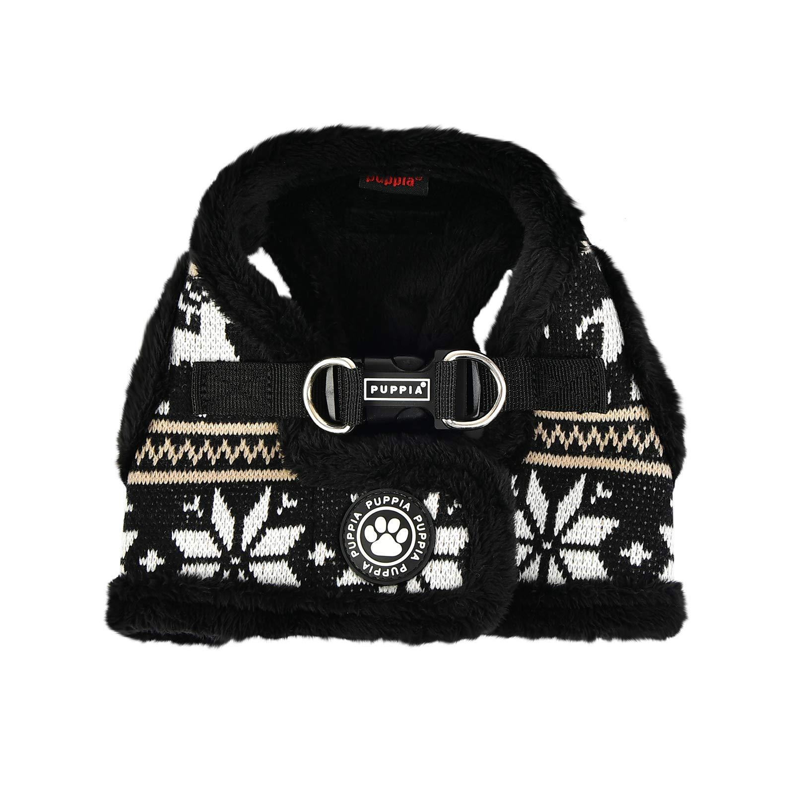 Puppia Prancer Harness B - Black - S by Puppia