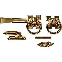 "Solid Brass Ring Gate Latch Pull Twist Elegant Design 7"" Length Renovator's Supply"