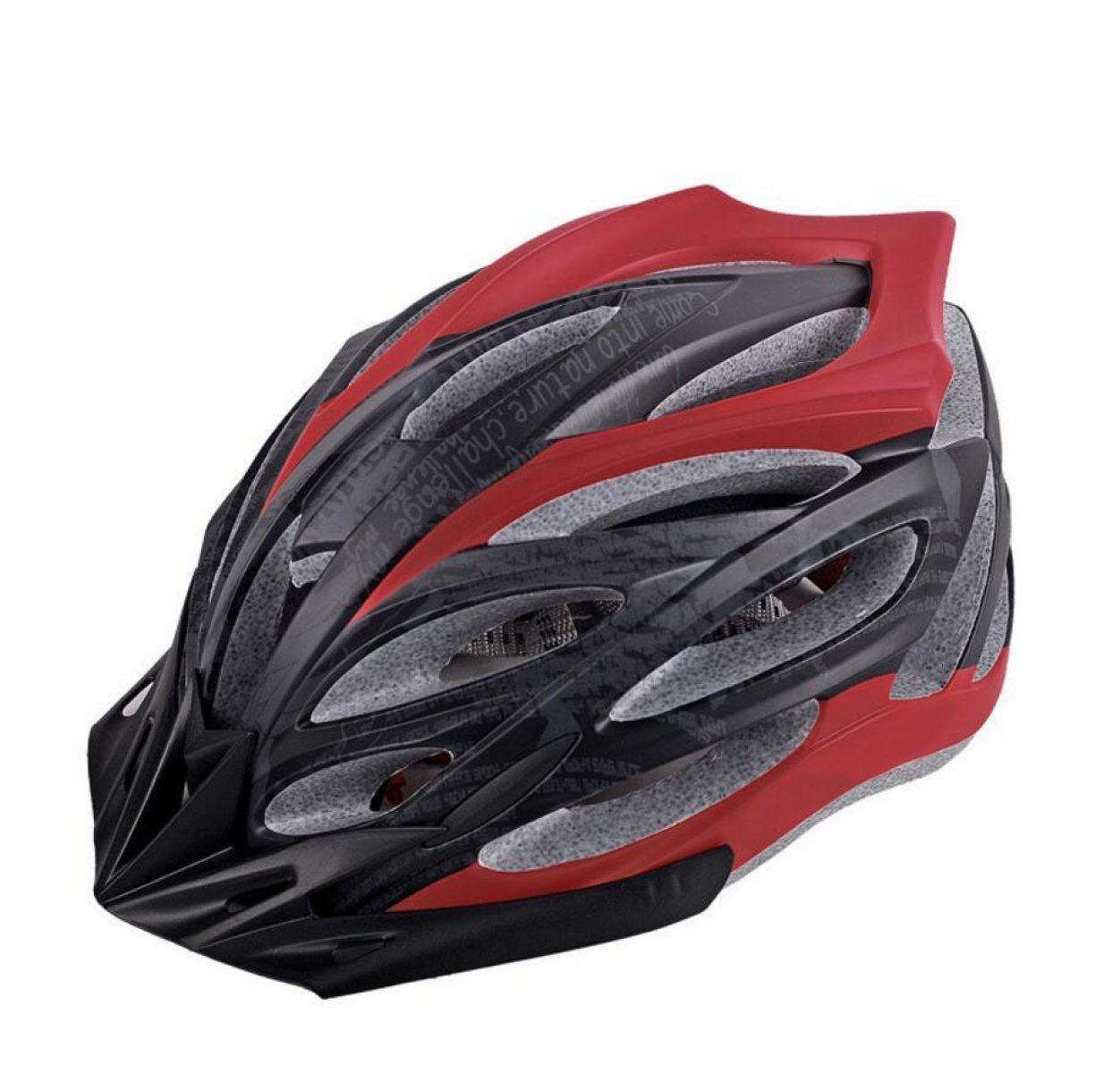 TERMV Scrub Einteiliges Fahrrad Reithelm Autobahn Berg Sport Schutzausrüstung,ROT