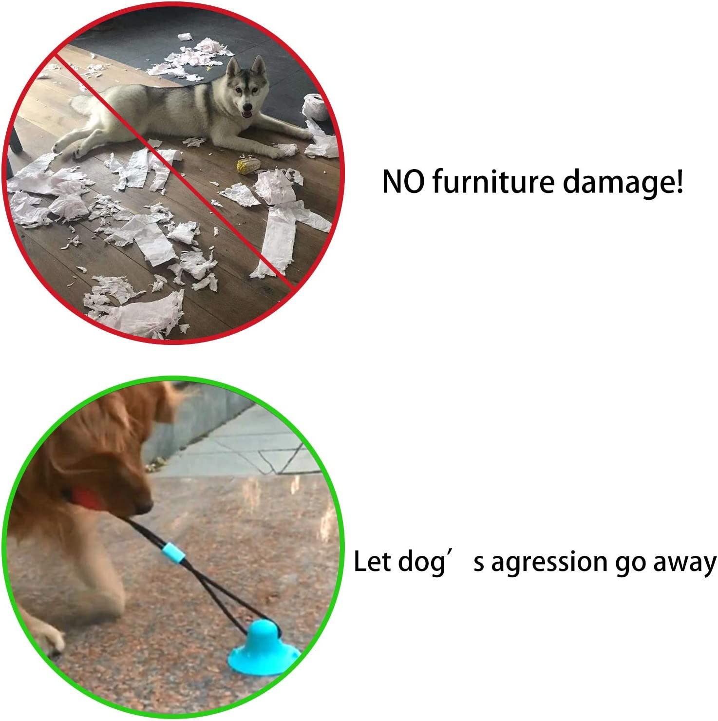 Pet Toy con Ventosa Leeko Giocattolo per Cani con Ventosa Multifunction Pet Molar Bite Toy in Gomma Naturale per la Pulizia dei Denti con Funzione di Cura dei Denti per Cane
