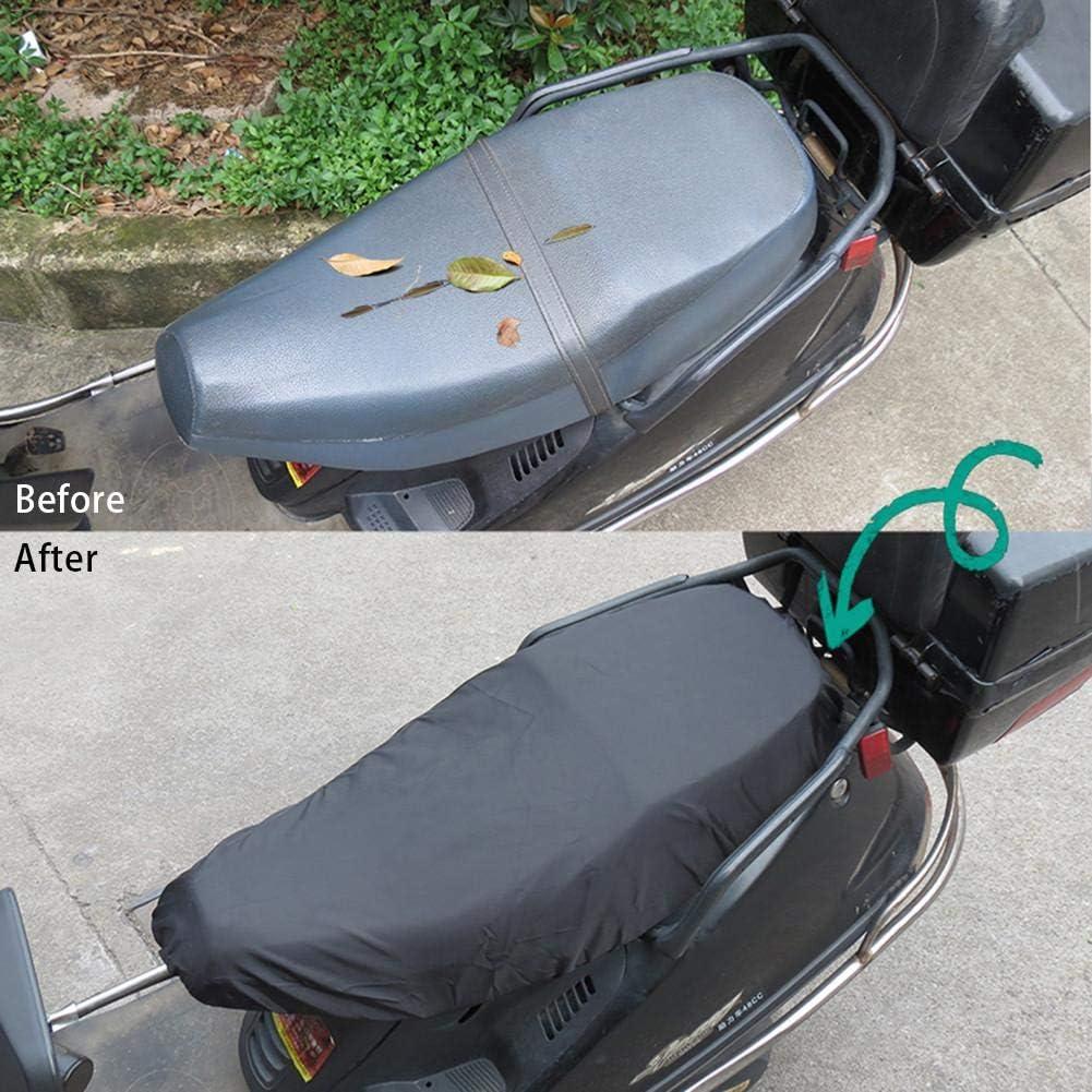 waysad Motorrad Sitzbezug Wasserdicht,Sitzbank Abdeckung Universal//Schutz-Abdeckung,Motorrad Roller Moped Sitzbezug Sitz F/ür Motorrad Roller Kissen L//XL