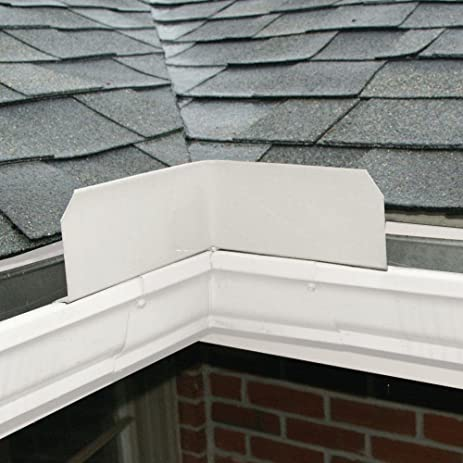 Rain Gutter Guard Valley Diverter Spread Out The High