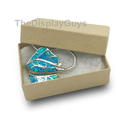 The Display Guys Pack of 25 Cotton Filled Cardboard Paper Kraft Jewelry Box Gift Case -