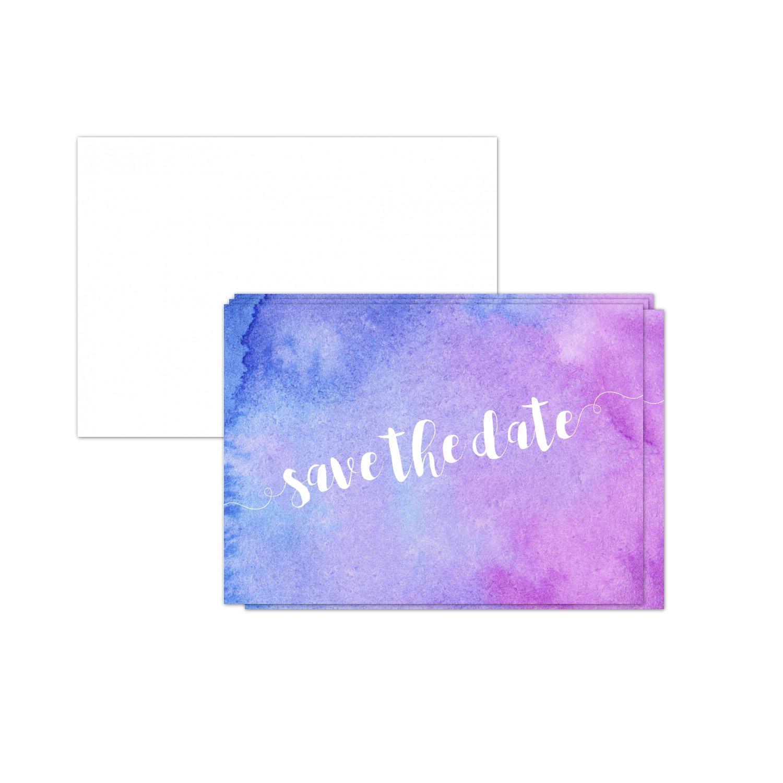 15 X Save The Date Karten Mit Umschlag Aquarell Modern Rosa Pink