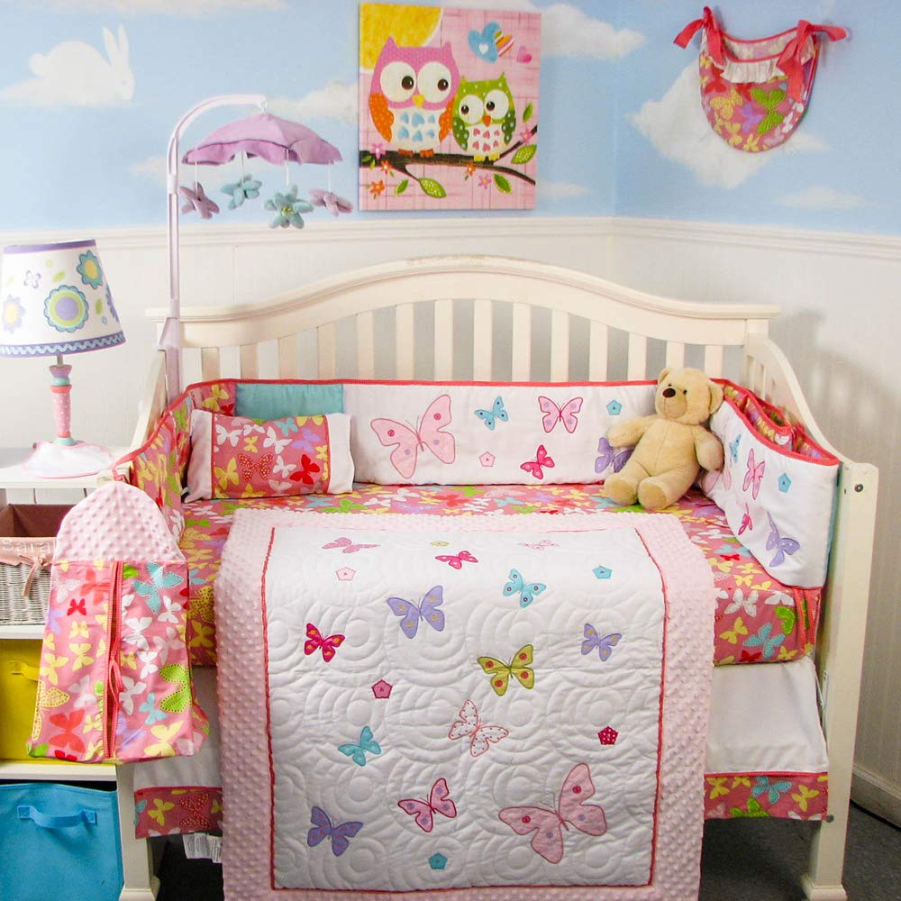 PinkGold SoHo Baby Crib Bedding 10Pc Set