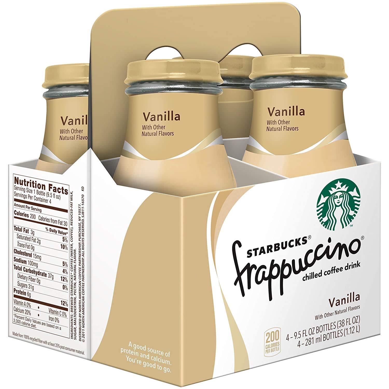 Starbucks Frappuccino Vanilla, 9.5 Fl Oz (pack of 4)
