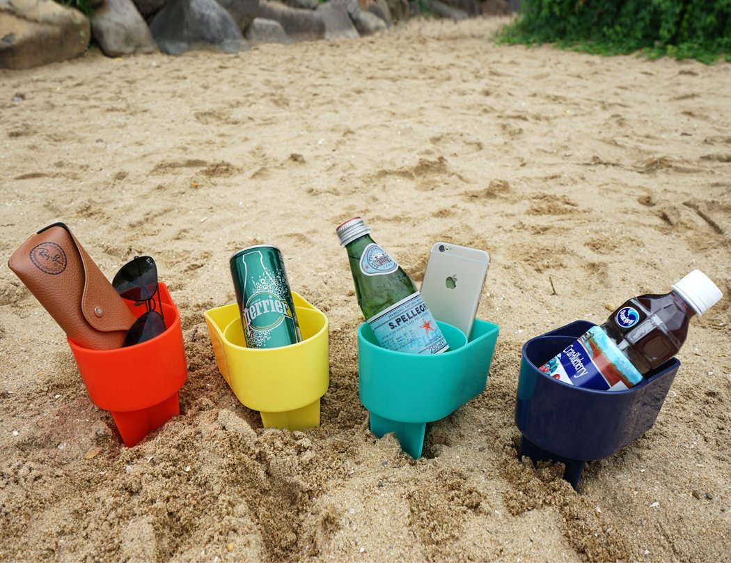 Amazoncom Home Queen Beach Cup Holder With Pocket Multifunctional