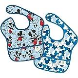 Bumkins(バンキンス)  ディズニー ベビー スーパービブ(防水ビブ) 6~24ヶ月 2枚組(ミッキー&ミッキーアイコン) [並行輸入品]