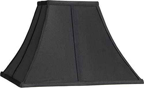 Square Curved Black Lamp Shade 6x14x9 1 2 Spider – Springcrest
