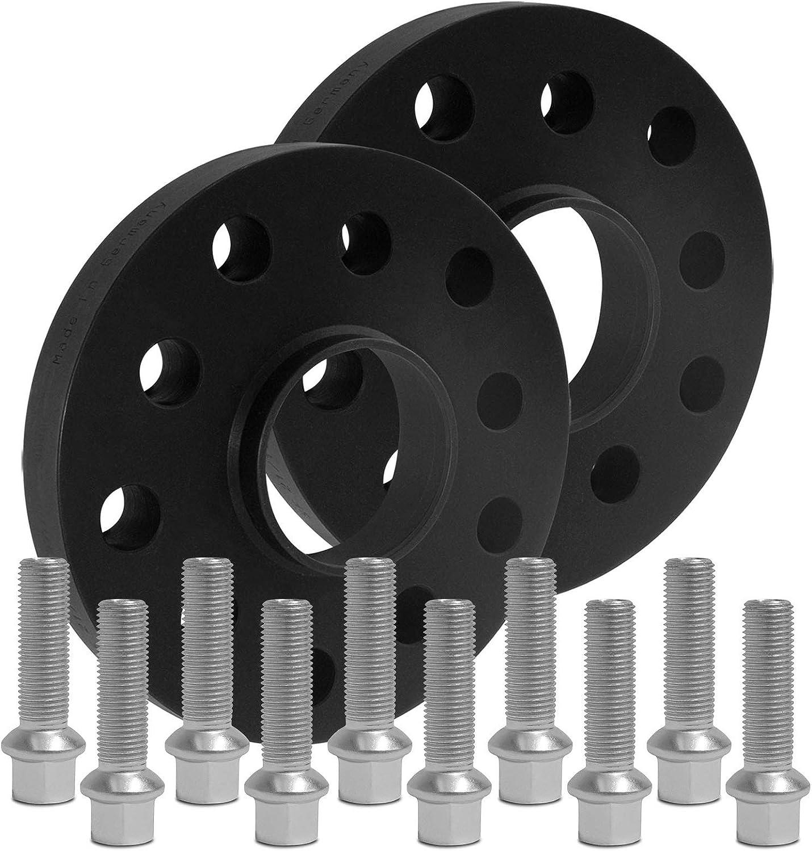 15mm BlackLine Spurverbreiterung 30mm 12169W/_36/_M1415KU60B mit Schrauben silber 5x112 66,6mm