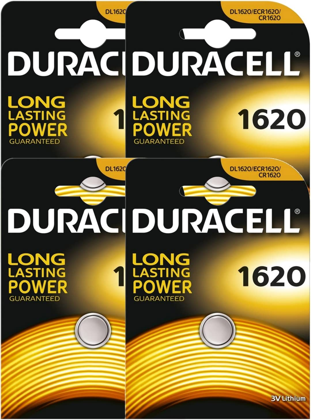 4 X Duracell Cr1620 Dl1620 Ecr1620 3v Lithium Button Elektronik