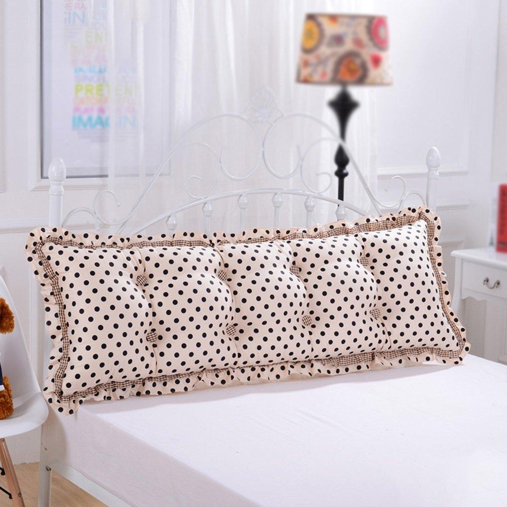 FIOFE-Cuscino grande Cuscino dello schienale del letto / cuscino della testata del letto matrimoniale / comodo schienale alto del divano / cuscino morbido con grandi cuscini Cuscino / cuscino ( Colore : A , dimensioni : 100*55cm )