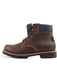 Levis Zapatos Hombre Jackson Botines, Botas, Cuero y Jeans - Marrón Oscuro