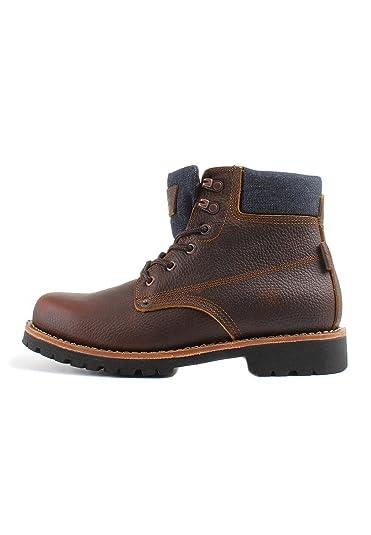 Levis Zapatos Hombre Jackson Botines, Botas, Cuero y Jeans - Marrón Oscuro: Amazon.es: Zapatos y complementos