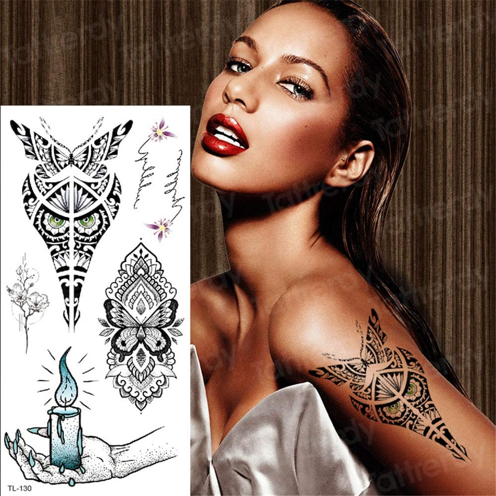 3pcs Tattoo Body Art Mandala Tattoo Women Mehndi Tattoo Stickers Temporary Tattoo Sticker Arab Indian Lotus Flower Art 3pcs 24 Amazon Co Uk Kitchen Home